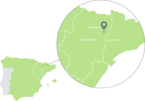 Mapa de localización de Pirenaica de Jamón